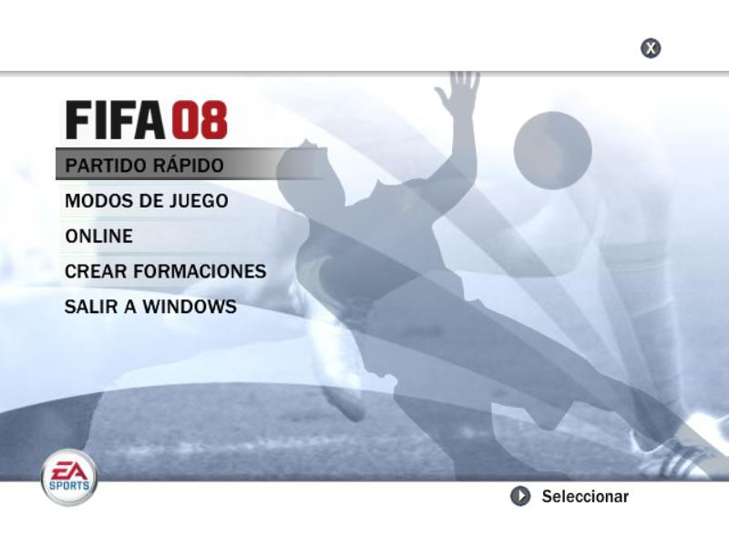 Fifa 08 Demo - Inicio de la versión demo